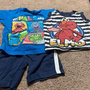 Sesame Street 3 piece short set